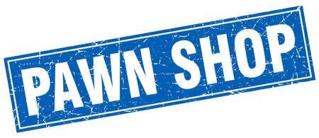 pawn shop: pawn shop square stamp Illustration