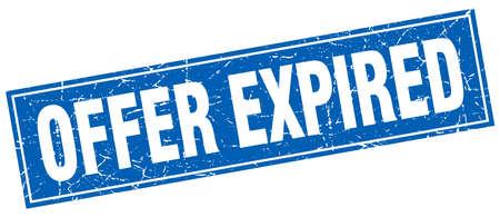 expired: offer expired square stamp