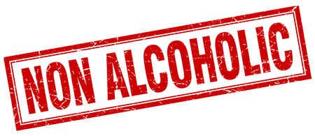 non alcoholic: non alcoholic square stamp Illustration