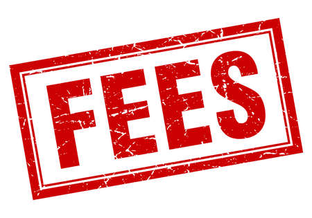 fees square stamp Illustration