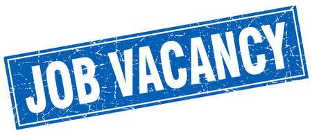 vacancy: job vacancy square stamp