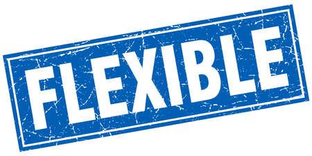 flexible: flexible square stamp Illustration