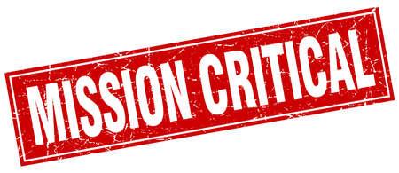 critical: mission critical square stamp Illustration