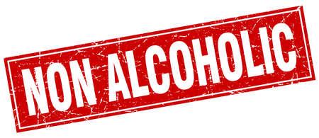 non: non alcoholic square stamp Illustration
