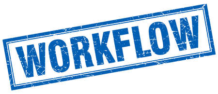 workflow: workflow square stamp Illustration