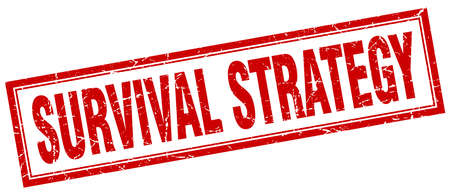 survival: survival strategy square stamp
