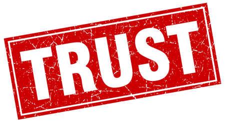 trust: trust square stamp Illustration