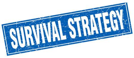 estrategia de supervivencia sello cuadrado