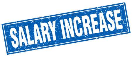 salary increase square stamp Illustration