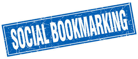 bookmarking: social bookmarking square stamp