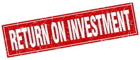 return on investment square stamp