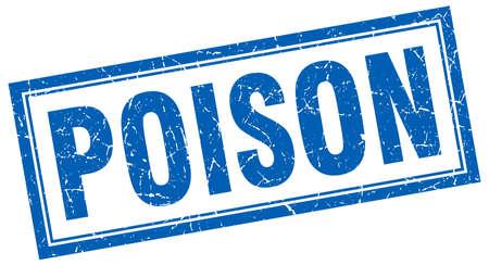 poison: poison square stamp Illustration