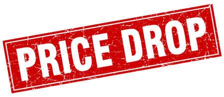 price drop: price drop square stamp