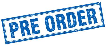 pre: pre order square stamp