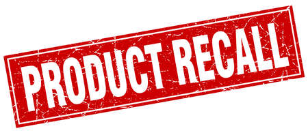 product recall square stamp Stock Vector - 66770520