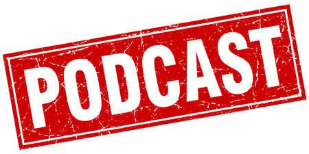 podcast: podcast square stamp