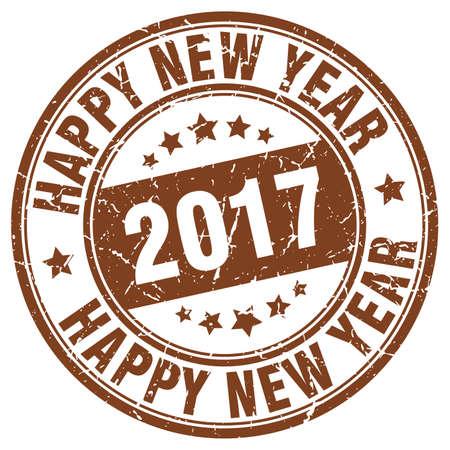 happy new year stamp: happy new year 2017 stamp