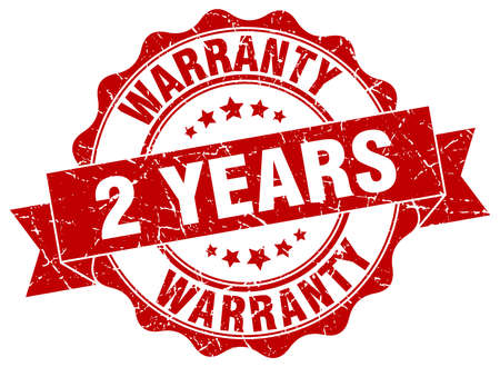 2 years warranty stamp. sign. seal 矢量图像