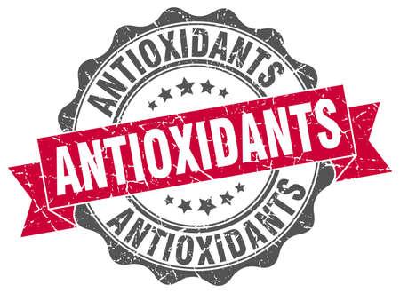 antioxidants: antioxidants stamp. sign. seal