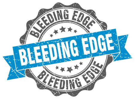 hemorragias: sangrado sello de borde. firmar. sello