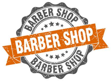 barber shop: barber shop stamp. sign. seal