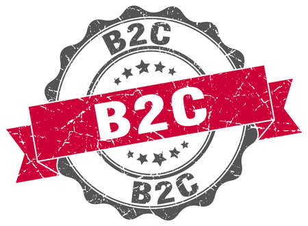 b2c: b2c stamp. sign. seal Illustration