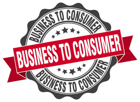 consumer: business to consumer stamp. sign. seal Illustration