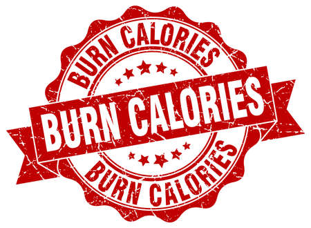 calories: burn calories stamp. sign. seal