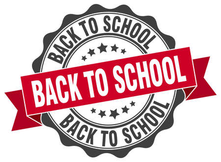 school: back to school stamp. sign. seal