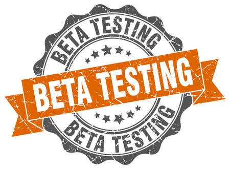 beta testing stamp. sign. seal Illustration