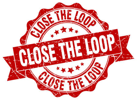 the loop: close the loop stamp. sign. seal Vectores