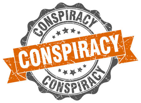 conspiracy: conspiracy stamp. sign. seal Illustration