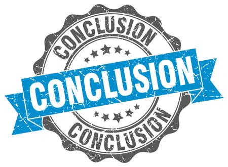 conclusion: conclusion stamp. sign. seal