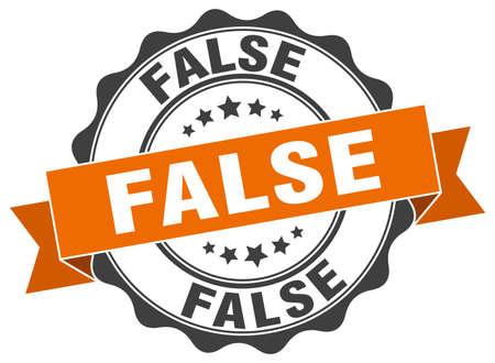 false: false stamp. sign. seal Illustration