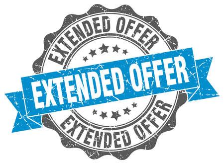 extended: extended offer stamp. sign. seal