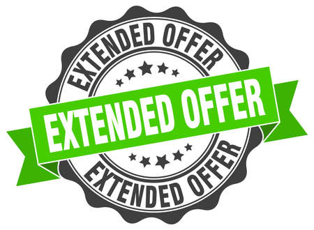 extended offer stamp. sign. seal