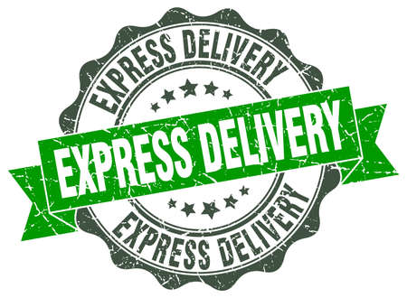 express delivery: express delivery stamp. sign. seal