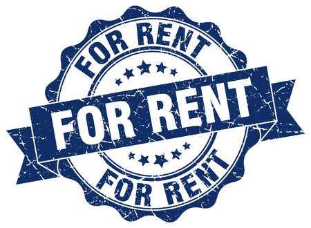 rent: for rent stamp. sign. seal Illustration