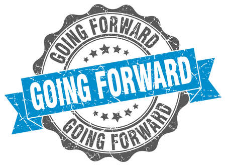 going: going forward stamp. sign. seal