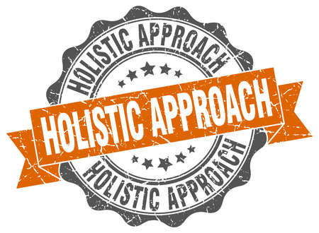holistic: holistic approach stamp. sign. seal