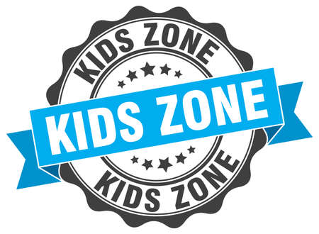 in the zone: kids zone stamp. sign. seal