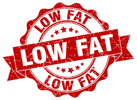 low fat: low fat stamp. sign. seal