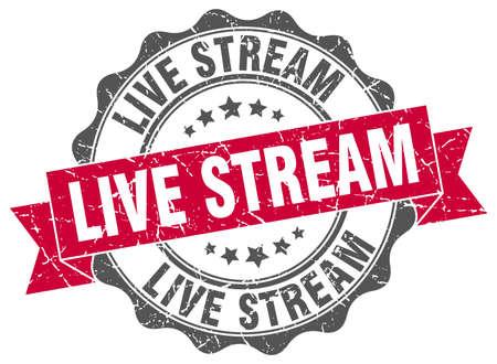 live stream stamp. sign. seal