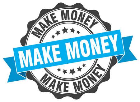 make money stamp. sign. seal