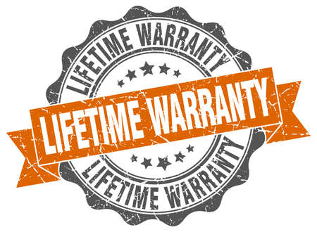 lifetime warranty stamp. sign. seal Illustration