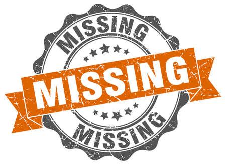 missing: missing stamp. sign. seal Illustration
