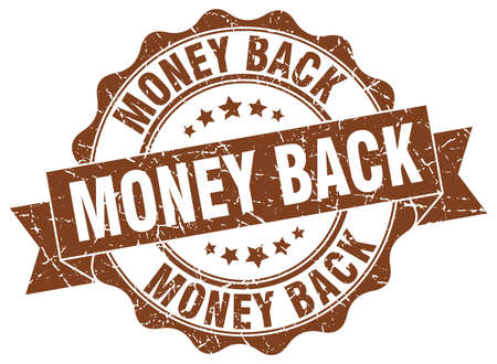 money back stamp. sign. seal Illustration