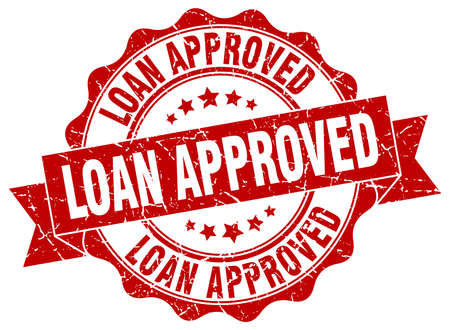 approved sign: loan approved stamp. sign. seal