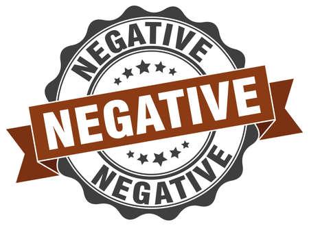 negative: negative stamp. sign. seal Illustration