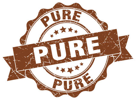 pure: pure stamp. sign. seal Illustration